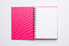 Open Blank Page notebook. Open Blank Page spiral notebook Royalty Free Stock Image