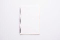Open Blank Page notebook. Open Blank Page spiral notebook Stock Photo