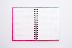 Open Blank Page notebook Stock Images