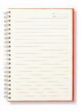 Open Blank Page Orange Note Book Stock Photo