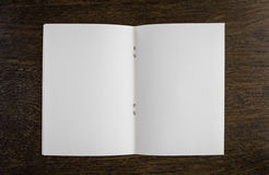 Open blank pages of book Stock Photography
