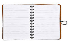 Open blank paper notebook Stock Image