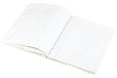 Open blank paper notebook Stock Images