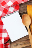 Open blank recipe book Royalty Free Stock Images