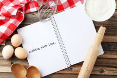 Open blank recipe book Stock Image