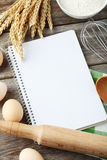 Open blank recipe book, close up Royalty Free Stock Photography
