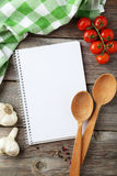 Open blank recipe book Stock Images