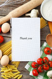 Open blank recipe book Royalty Free Stock Photo
