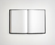 Open blank textbook on white Royalty Free Stock Photography