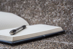 Open a blank white notebook, pen Royalty Free Stock Images