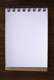Open a blank white notebook Stock Photo