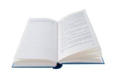 Open blauw boek Stock Fotografie