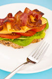 Open blt sandwich Stock Photos
