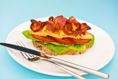 Open blt sandwich Stock Images