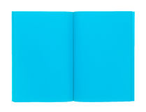 Open blue book isolated on white Royalty Free Stock Photo