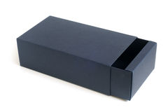 Open blue box Stock Image