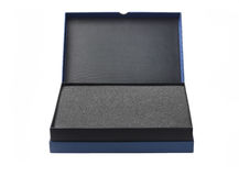 Open Blue Box With Packaging Sponge Foam Royalty Free Stock Photo