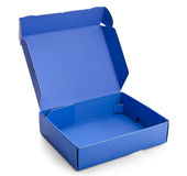 Open blue cardboard box Stock Photography