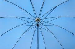 Open blue color of umbrella Stock Photos