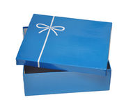 Open blue gift box Royalty Free Stock Image