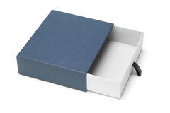 Open blue gift box Royalty Free Stock Photo