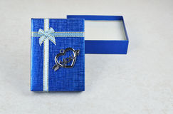 Open blue gift box Stock Photography