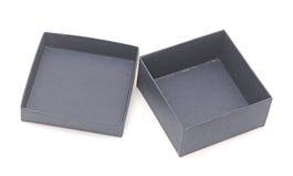 Open blue gift box Stock Photos