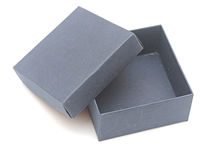 Open blue gift box Royalty Free Stock Images