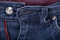 Open Blue Jeans. Open front side of blue jeans Stock Images