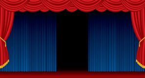 Open blue stage wide Stock Photo