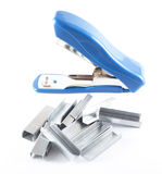 Open blue stapler with staples Royalty Free Stock Image