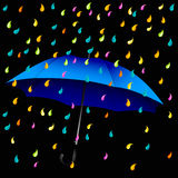 Open blue umbrella Royalty Free Stock Images