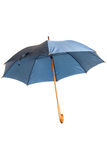 Open blue umbrella isolated Stock Image