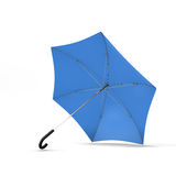 Open blue umbrella  on a white background Royalty Free Stock Image