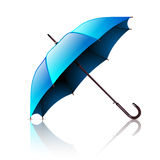 Open Blue Umbrella on a White Royalty Free Stock Photography