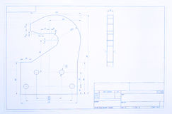 Open blueprint Royalty Free Stock Photography
