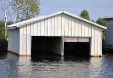 Open boat house Stock Images