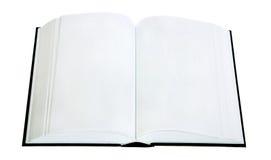 Open boek dat op een witte achtergrond wordt geïsoleerdi Stock Foto