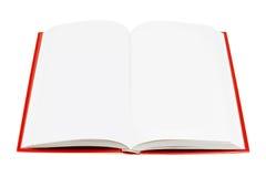 Open Boek (dat op wit wordt geïsoleerde) Stock Foto's