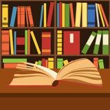 Open boek die op een bureau liggen vector illustratie