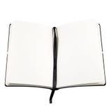 Open boek met blanco pagina. royalty-vrije stock afbeelding