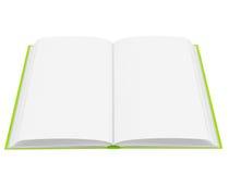 Open boek met blanco pagina's stock illustratie