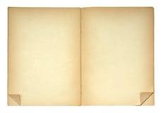 Open boek met gevouwen paginahoeken Royalty-vrije Stock Foto's