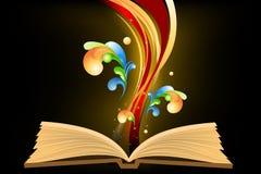 Open boek met golven Royalty-vrije Stock Foto's