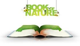 Open boek met groene aard Royalty-vrije Stock Foto's