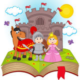 Open boek met sprookje stock illustratie