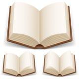 Open boek met witte pagina's Stock Afbeeldingen
