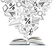 Open boek op de lijst Onderwijs milieu vector illustratie