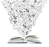 Open boek op de lijst Onderwijs milieu stock illustratie
