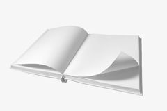 Open boek op witte achtergrond royalty-vrije stock afbeeldingen